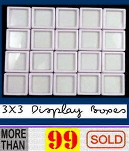 Clever 20 Stück 3x3 Cm Großhandel Edelstein Display Kunststoff Aufbewahrungsbox Gems VerrüCkter Preis