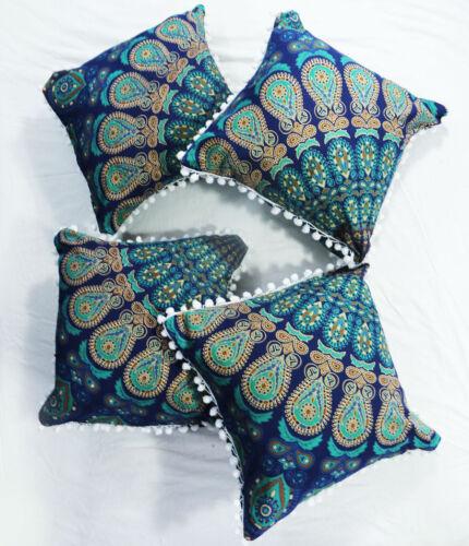 16x16 Mandala Sofa Pillow Cover 4 Pcs Set Cushion Covers Hippie Room Decorative