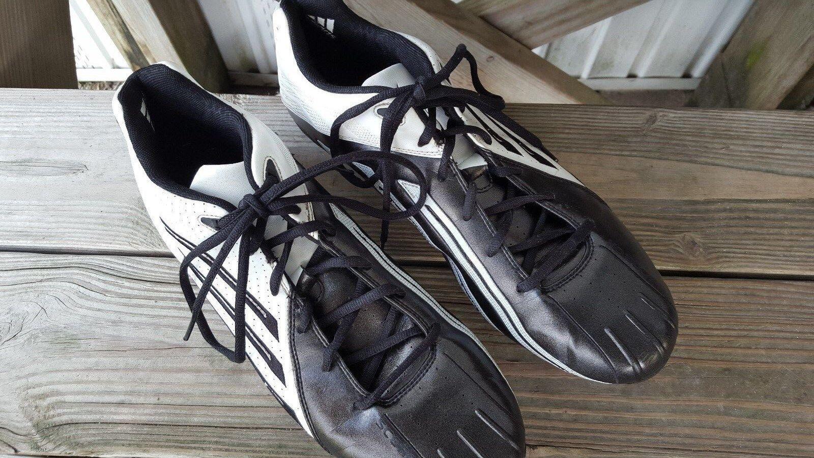 Adidas Scorch Low Football Soccer La Crosse Cleats Black White Men's Comfortable Brand discount