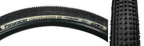 Panaracer Gravel King Sk Tires Tubeless 27.5X1.90 584 Tbls Fold Belted Bk//Blk