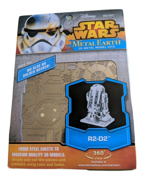 NEW Metal Earth Star Wars R2-D2 Robot 3D Laser Cut DIY Puzzle Model Building Kit