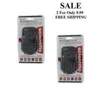 Genuine Sentry 56-function Scientific Calculator Lot Of 2 With Case Sat Algebra
