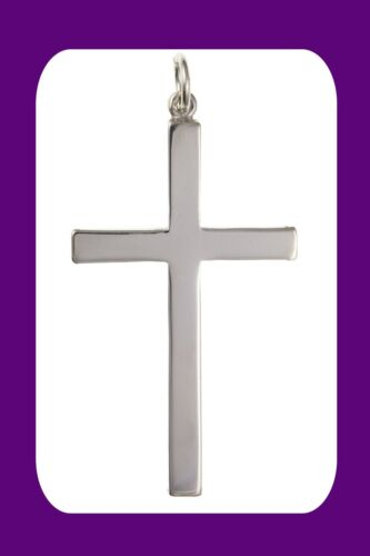 Large Plain Silver Cross Pendant Sterling Silver 925 Stamp All Chain Lengths