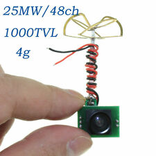 5.8G 48CH 25MW VTX 1000TVL FPV Camera with Built-in Transmitter+Antenna