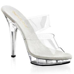 Fabulicius Slippers Lip 102 Clear Transparent Slippers Fabulicius Stiletto Heel Double b069da