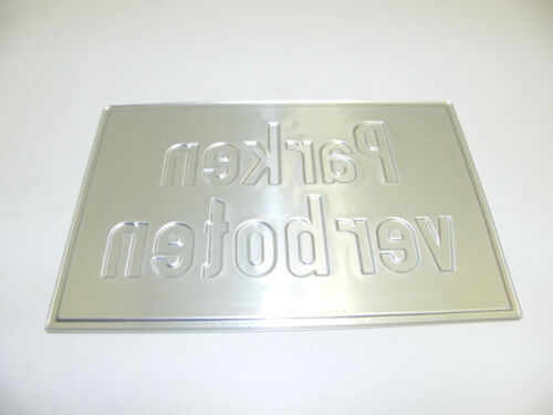 BLECHSCHILD 29x19,5cm HAUS SCHILD PARKVERBOT PARKEN VERBOTEN