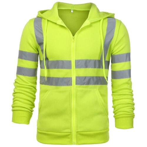 Herren Hi Viz Workwear Kapuzenpullover Arbeit Warnschutzjacke Hoodies Jacke Hose