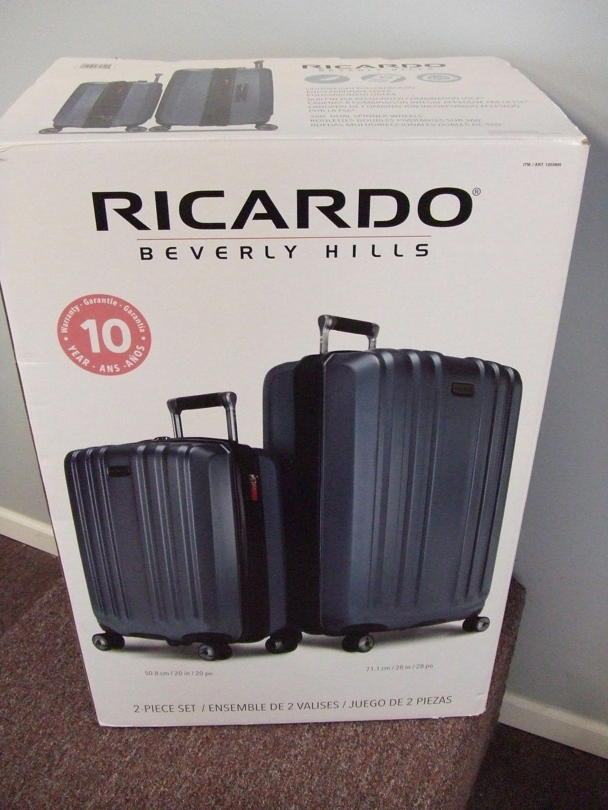 d38b3f6be Ricardo Beverly Hills Mulholland Drive 2 Piece Luggage Set Suitcase ...