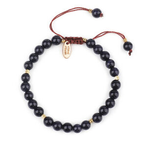 Bracelet with Stone Pen Natural Gemstone 6mm Bead Macrame Healing Reiki UKselle