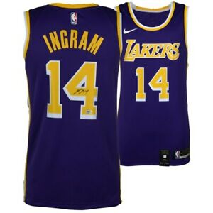 b4186d80342 Image is loading BRANDON-INGRAM-Autographed-Purple-Los-Angeles-Lakers-Jersey -