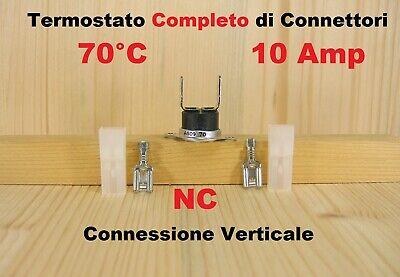 Termostato di sicurezza a pastiglia 70°C NC per stufa caldaia e altro 10A 250V