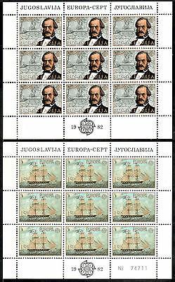 Stetig Jugoslawien Kleinbogen Michelnummer 1919-1920 Postfrisch Briefmarken klbg 1557 Jugoslawien