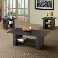 Contemporary 3 Piece Occasional Table Set In Black - Furniture