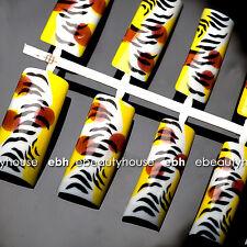 50 pcs Pre-Design French Acrylic False Nail Tips Nail Art #021A-19