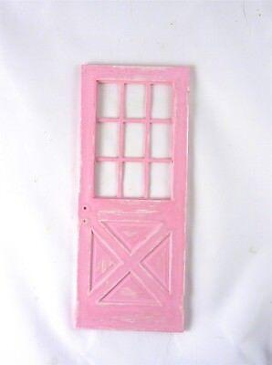 Dollhouse Miniature Artisan Weathered Pink Door