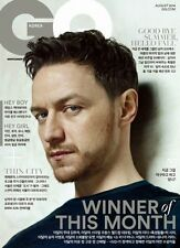 GQ Magazine KOREA August 2014, James McAvoy, Michael Fassbender NEW