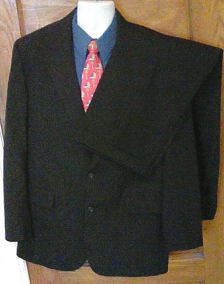 EUC Brooks Brothers 2 Button Dark Blau Pinstripe 100% Wool Suit 42R 42 R 36W 29L