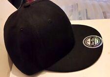 NEW Raw Blue Super Premium Snapback Plain Black Baseball Cap