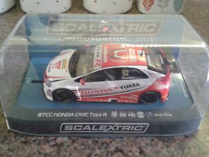 Scalextric BTCC 2015 Honda Civic Type R C3783 - Signed by Gordon Shedden