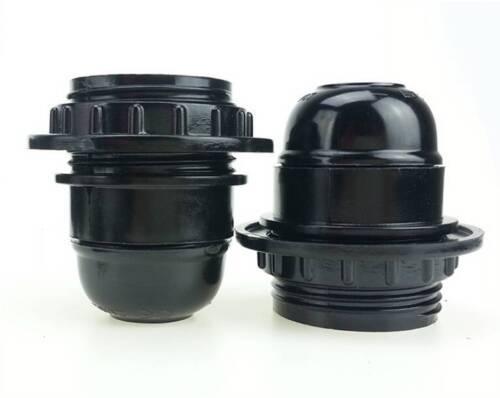 Schwarzer Stil Stil Schraube E27 Glühbirne Lampenfassung Anhänger SockelZPTY