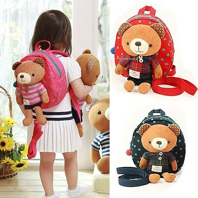 Toddler Kids Safety Harness Backpack Animals Bag Baby Anti-lost Walking Helper
