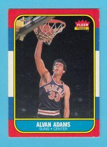 1986-87 Fleer Basketball Alvan Adams # 2 Phoenix Suns