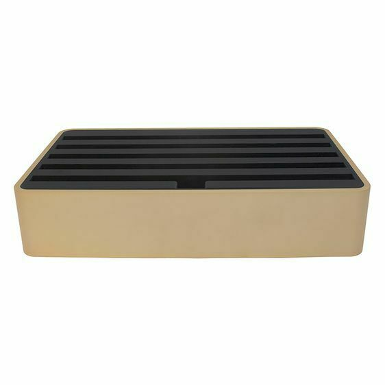 All Dock Classic Family 6-Port Charging Station, Aluminium/Gold/Black
