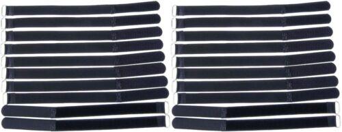 20x Kabelklett m Öse 300 x 20 mm schwarz Kabel Klettband Kabelbinder Klettbänder