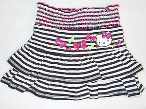 Hello-Kitty-Girls-Black-and-White-Tiered-Skorts-Sizes-XS-4-5-and-M-7-8-NWT