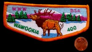 MERGED-OA-WAWOOKIA-LODGE-400-BSA-LEWIS-CLARK-COUNCIL-ID-311-PATCH-ELK-FLAP-COOL