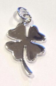 New-925-sterling-silver-pendant-four-leaf-clover-good-luck-charm