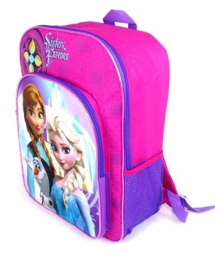 "DISNEY FROZEN ANNA ELSA Girls 16/"" Full-Size Multi-Pocket School Backpack NWT $30"