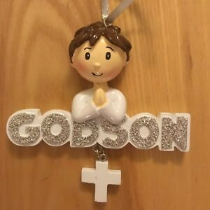 Godson! POLARX Personalizable Christmas Tree Ornament ...
