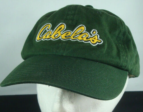 Cabelas Green Adjustable Hat Baseball Cap World Fo