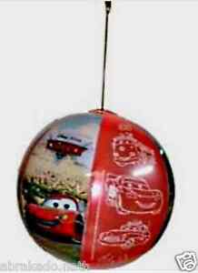 GROS BALLON CARS AVEC GRELOT 30CM MEGATAP BALL CARS GONFLABLE