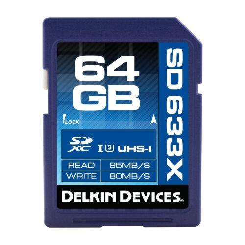 Delkin 64GB Tarjeta de memoria SDXC ELITE 633X UHS-1