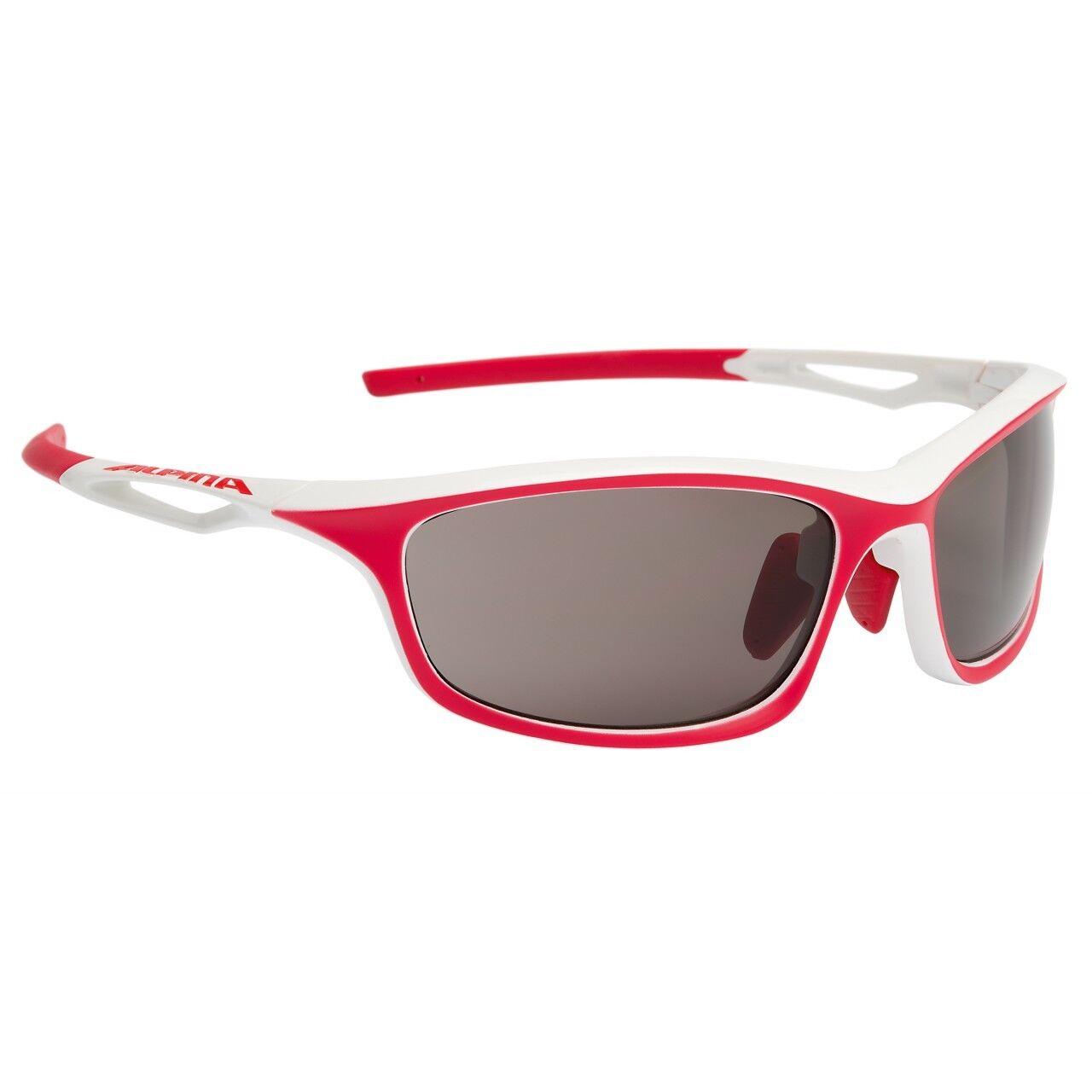 Alpina Fahrradbrille Sportbrille Sportbrille Sportbrille Sonnenbrille Brille SORCERY C+ Weiß-rot matt 90040f