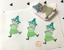 MOOMIN Snufkin-Hand Carved Eraser Rubber Stamps/Scrapbooking/Anime/Cartoon/Music