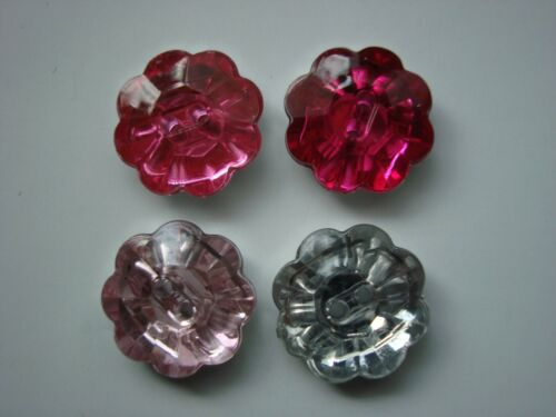 4 Colours 3 Sizes Daisy Buttons Acrylic
