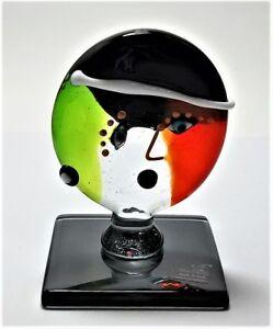 Scultura-Icona-Omaggio-a-Picasso-in-vetro-di-murano-Made-Italy