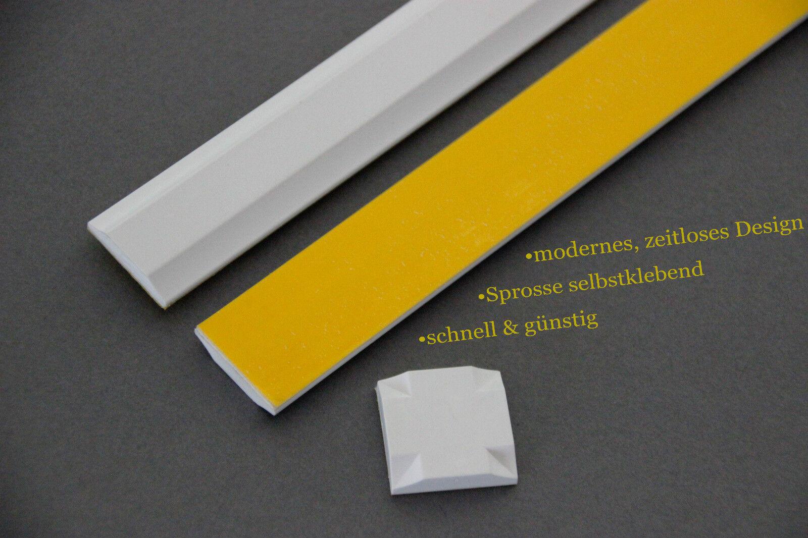Fenster - Sprosse zum nachrüsten - Kunststoff  Fenstersprosse selbstklebend-weiß  | Genialität  | Schön In Der Farbe  | Hohe Qualität und geringer Aufwand  | Wonderful