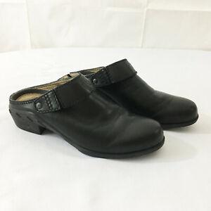 Ariat-Black-Leather-Mule-Clogs-Boots-Sz-8-Womens-Shoes-Heels