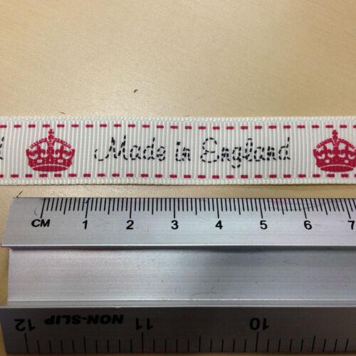 Cinta del grosgrain Hecho en Inglaterra 100/% Poliéster 16 mm 2m 5m o 25m longitudes de carrete