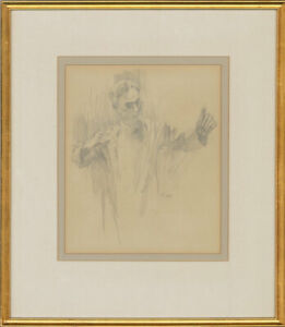 A.J. - Framed 1984 Graphite Drawing, Study of a Conductor