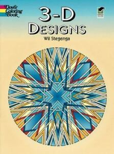 Details about 3-D Designs [Dover Design Coloring Books]