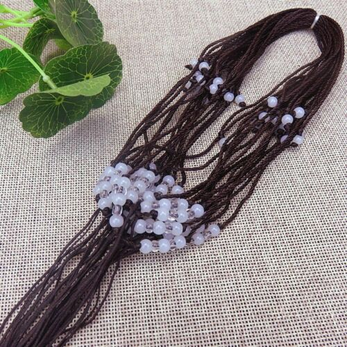 20 Chinese Hand Woven Braided Jade Bead Cord Adjustable String Pendant Necklace