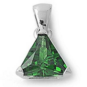 2-ct-Emerald-Trillion-Solitaire-Pendant-Necklace-in-Solid-Sterling-Silver