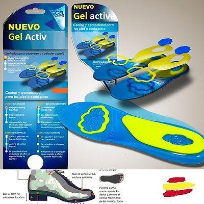 Plantillas para zapatos de energy gel talla zapatillas sandalias deporte pies