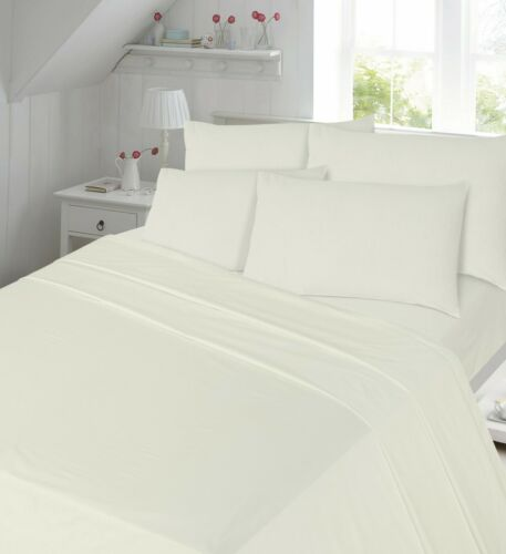 Flannelette Fitted Sheets Extra Deep 40cm Thermal Flat Sheet Or Pillowcases