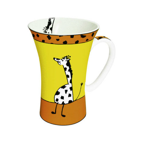 Giraffe gelb TIERGESCHICHTEN  Mega Mug  Könitz Porzellan 560ml Bone China Tasse